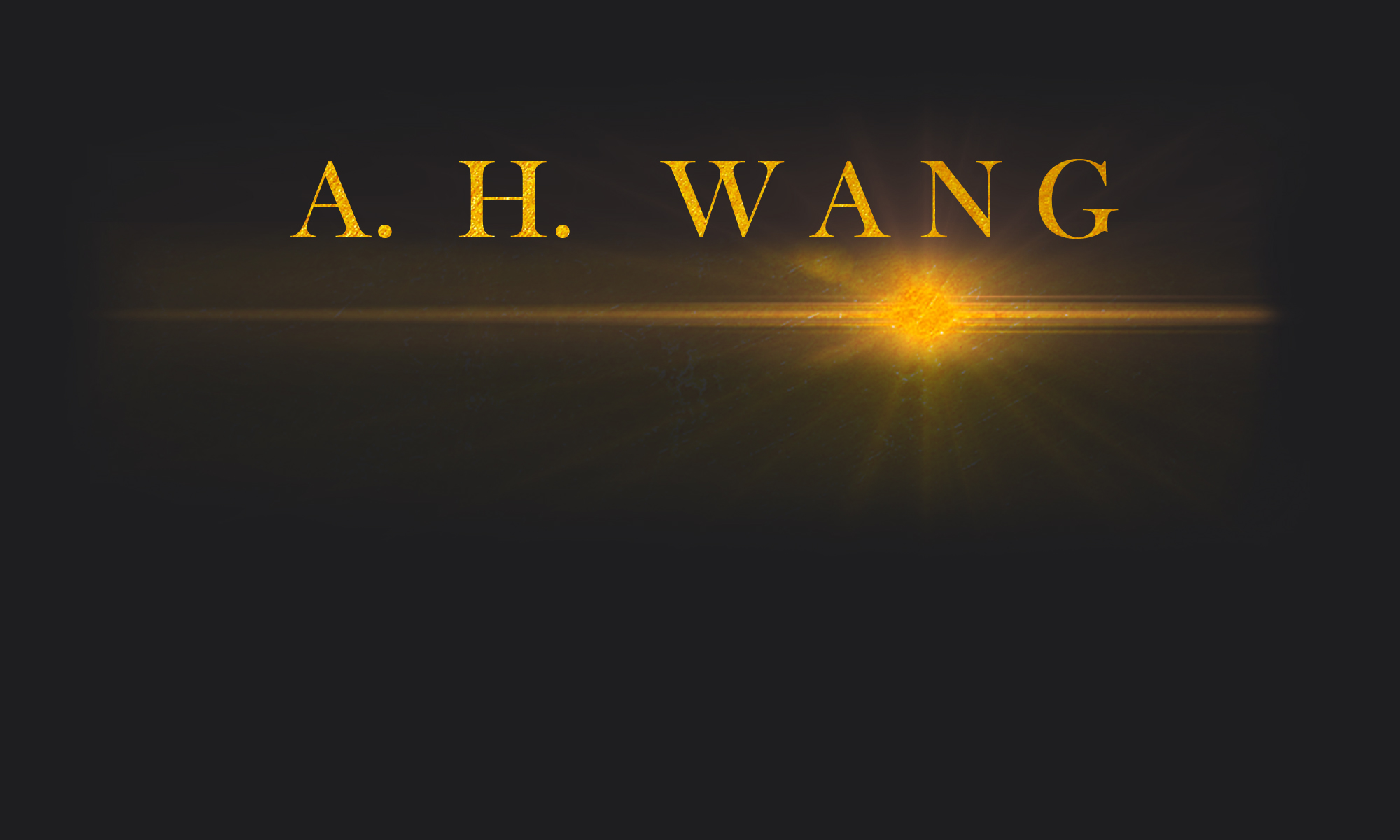AH Wang Author Website